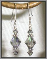 Crystal-Grey-Aurora-Borealis-Bicone-Earrings-Made-with-Swarovski-Elements
