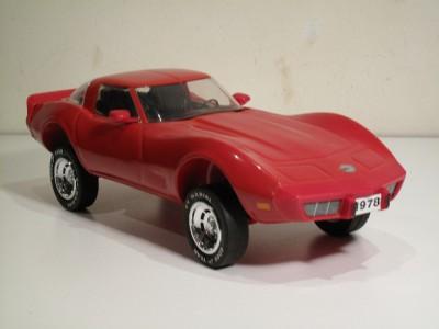 Vintage Jim Beam Whiskey Red Corvette 1978 Decanter