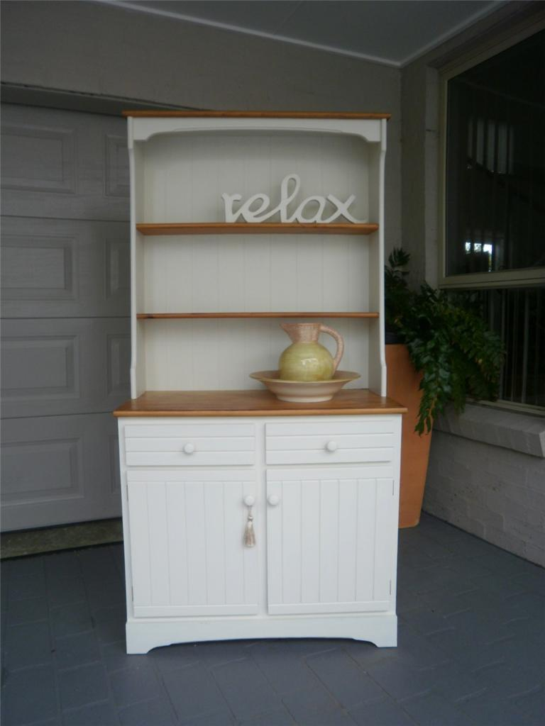 French Country Kitchen Dresser vintage french country beach house style kitchen dresser buffet
