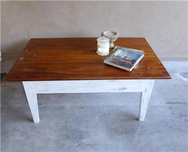 Hamptons style rustic coffee table ebay for Coffee tables ebay australia