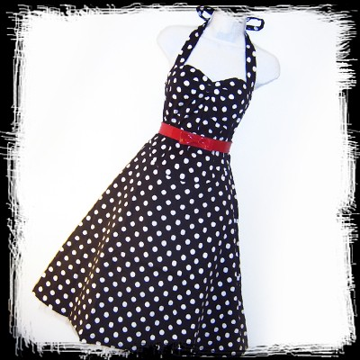50s polkadot dress :  2750 retro accessories vintage