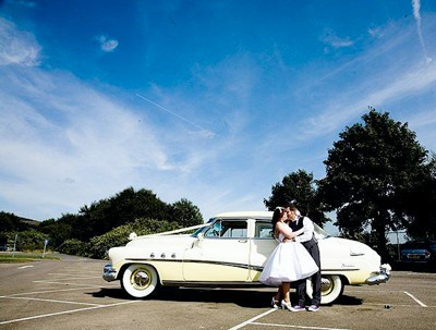 50s wedding car