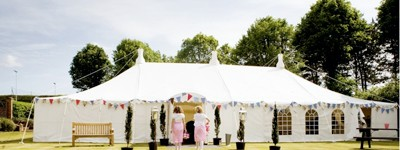 50s wedding marquee