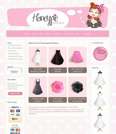 Honeypie Boutique screen shot