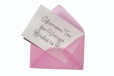 Afternoon tea for vintage brides to be invitation