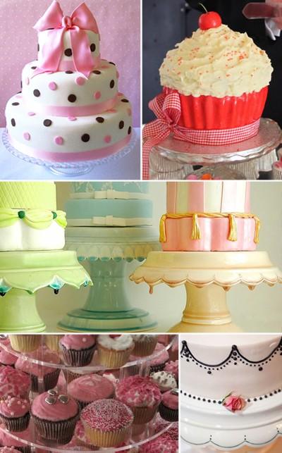 50s style wedding cakes