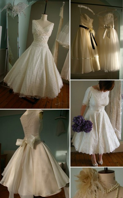 1950s style wedding dress When Dana from Once Upon a Time sent me pictures