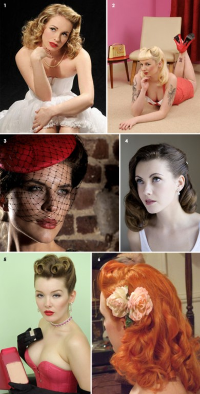 1950s style wedding hair