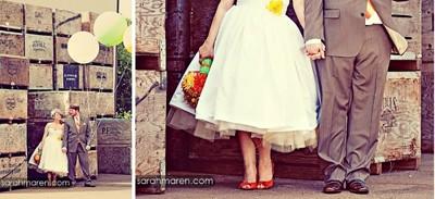 DIY 50s style wedding