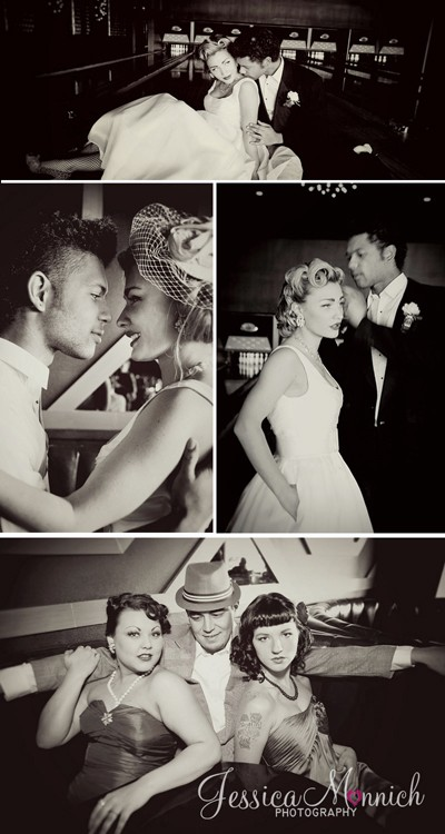 50s bowling wedding shoot