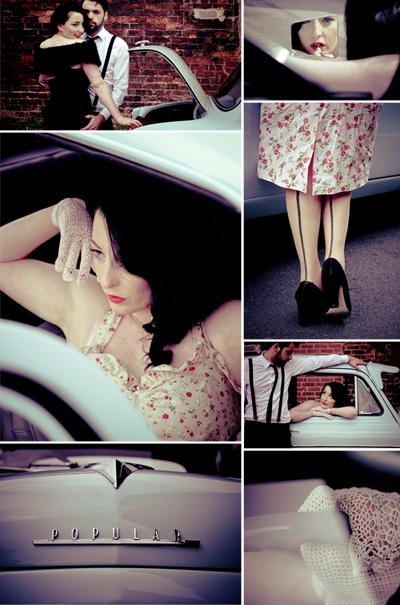 1950s engagement shoot