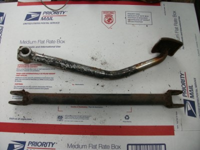 1980 Kawasaki KZ750 KZ 750 rear brake pedal & stay rod | eBay