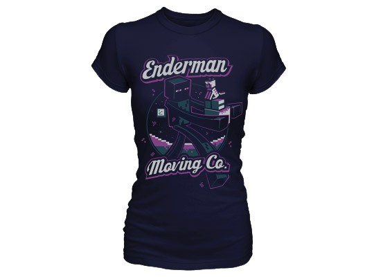 Minecraft Enderman Moving Company T Shirt Womens