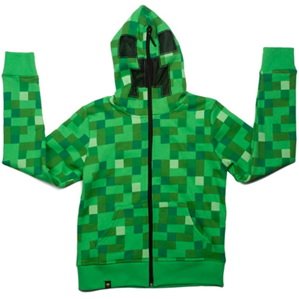 Minecraft-Creeper-Premium-Zip-up-Youth-Hoodie-Official-Merchandise-Xbox-360