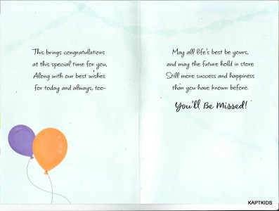 Hallmark greeting card retirement wishes balloon theme b16 m4hsunfo