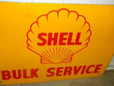 Old Shell Motor Oil Gasoline Company Bulk Plant Porcelain Sign Nice Original Ebay