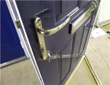New blue grp composite front door upvc frame 930mm x for New upvc door and frame