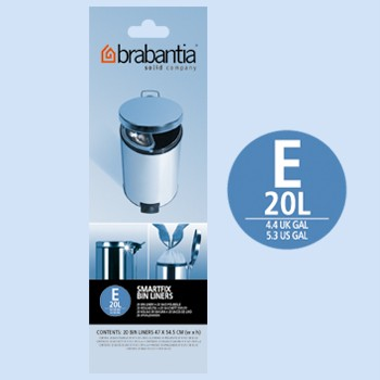 Brabantia Smartfix E 20L Trash Can Bin Liners 20 Bags