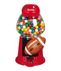 Carousel Sports Fan Football Gumball Machine Candy Dispenser