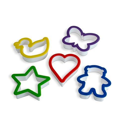 Curious Chef 5 Piece Over Sized Plastic Cookie Cutter Set