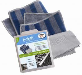 E Cloth Range & Stovetop Eco Friendly Micro Fiber Cleaning Cloths 2 Pk