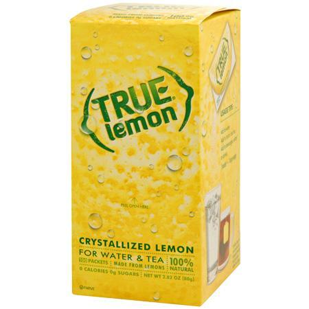 True Lemon Natural Crystallized Fruit Wedge 100ct Dispenser