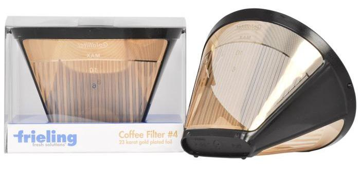 Coffee Makers That Use Cone Filters : Frieling 23K Gold Plated #4 Permanent Cone Coffee Filter eBay