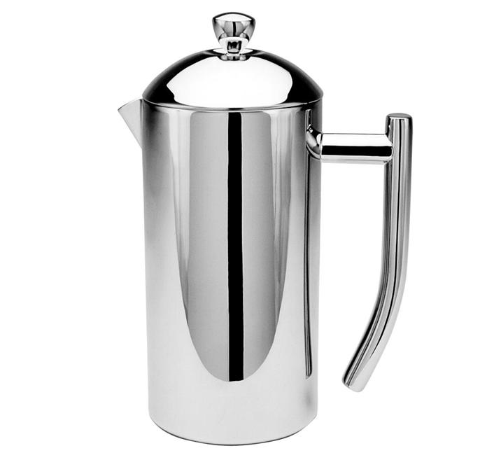 Frieling Mirror Finish Stainless Steel French Press Coffee Maker - 44 oz - The Discount Domicile