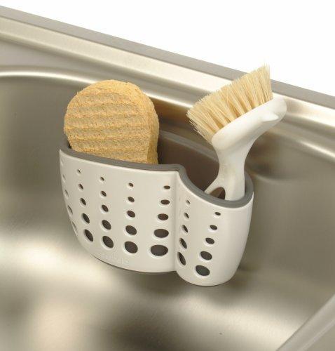 Kitchen Sink Sponge Holder: Casabella Sink Sider Suction Sponge & Dish Brush Holder