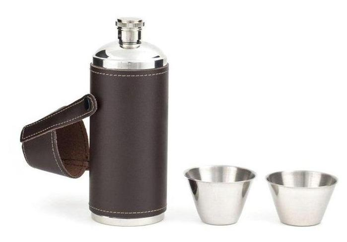 how to clean a flask with leather