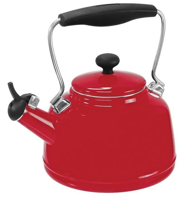 Chantal vintage enamel on steel whistling tea kettle chili red ebay - Chantal teapots ...