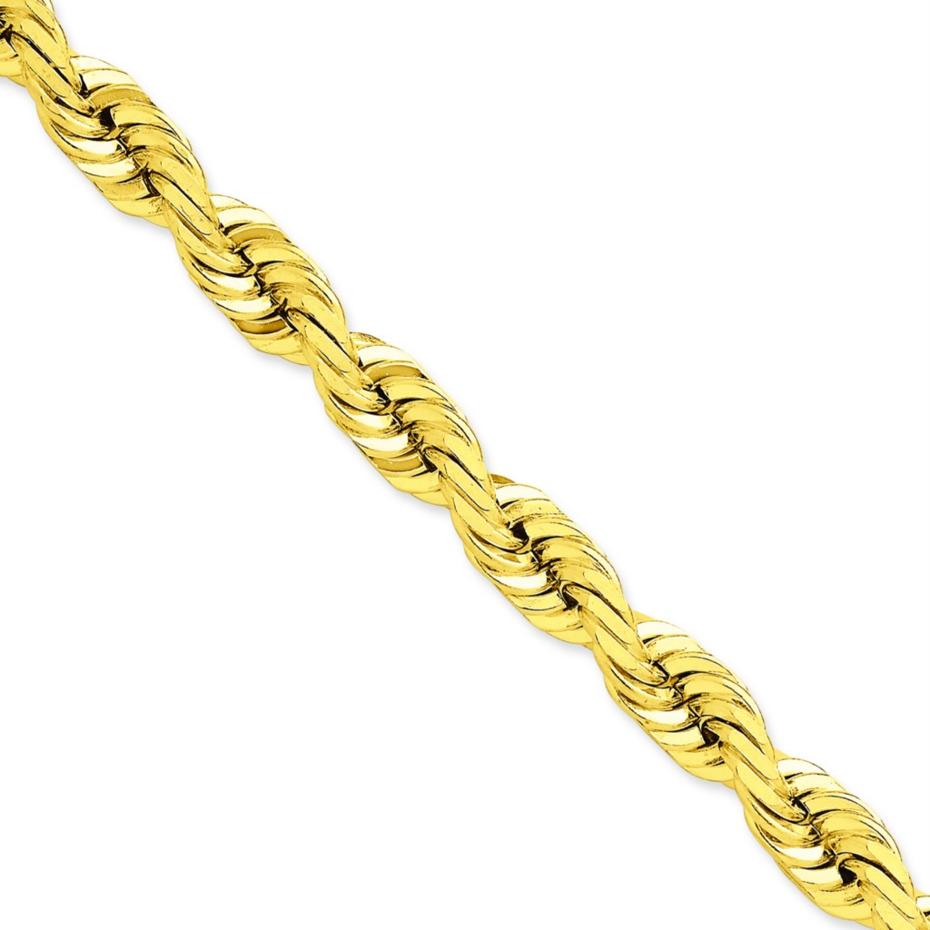 14k solid yellow gold 10mm d c rope chain 24 quot necklace ebay