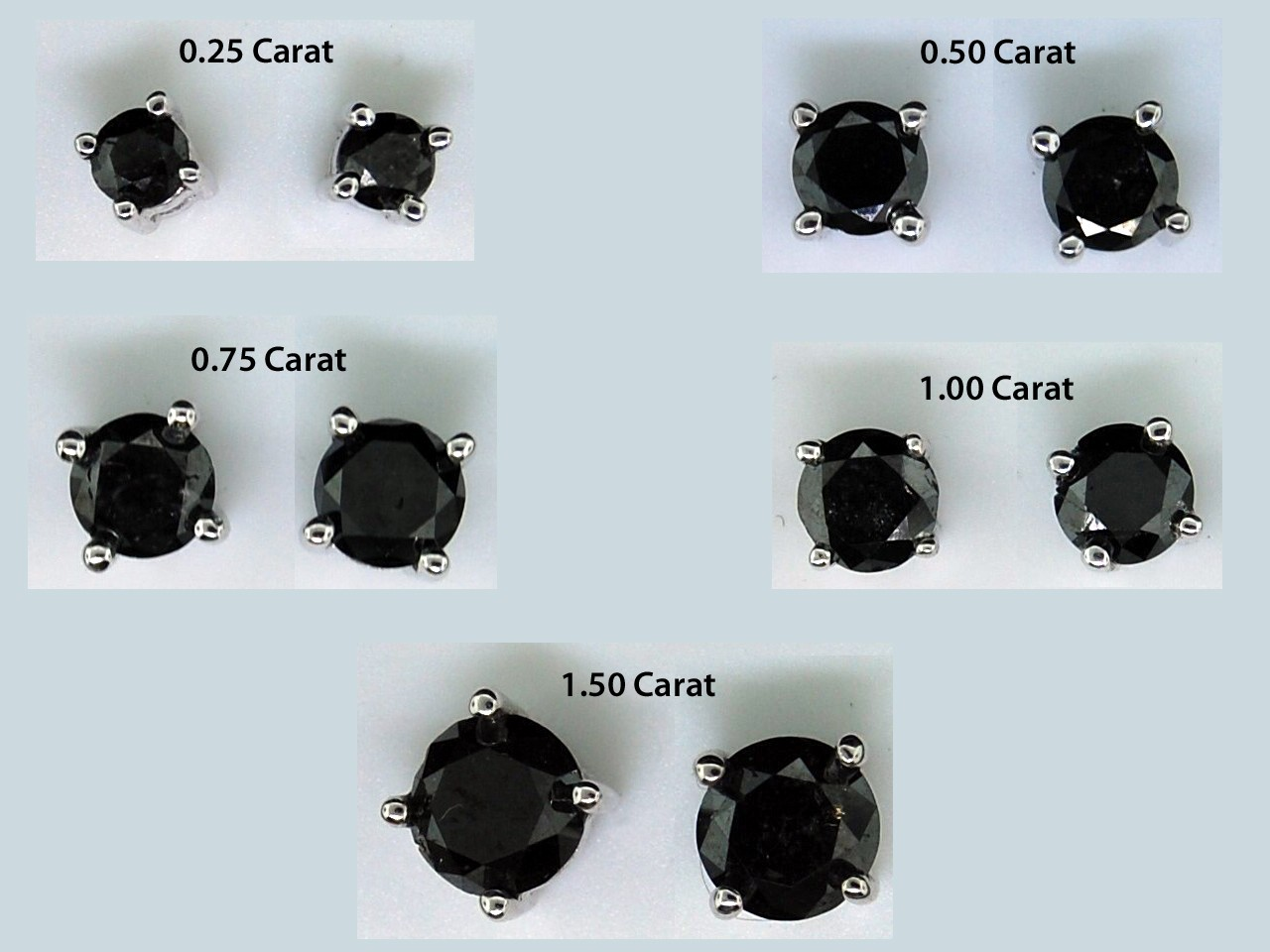 Black Diamond Stud Earrings For Guys Topearrings