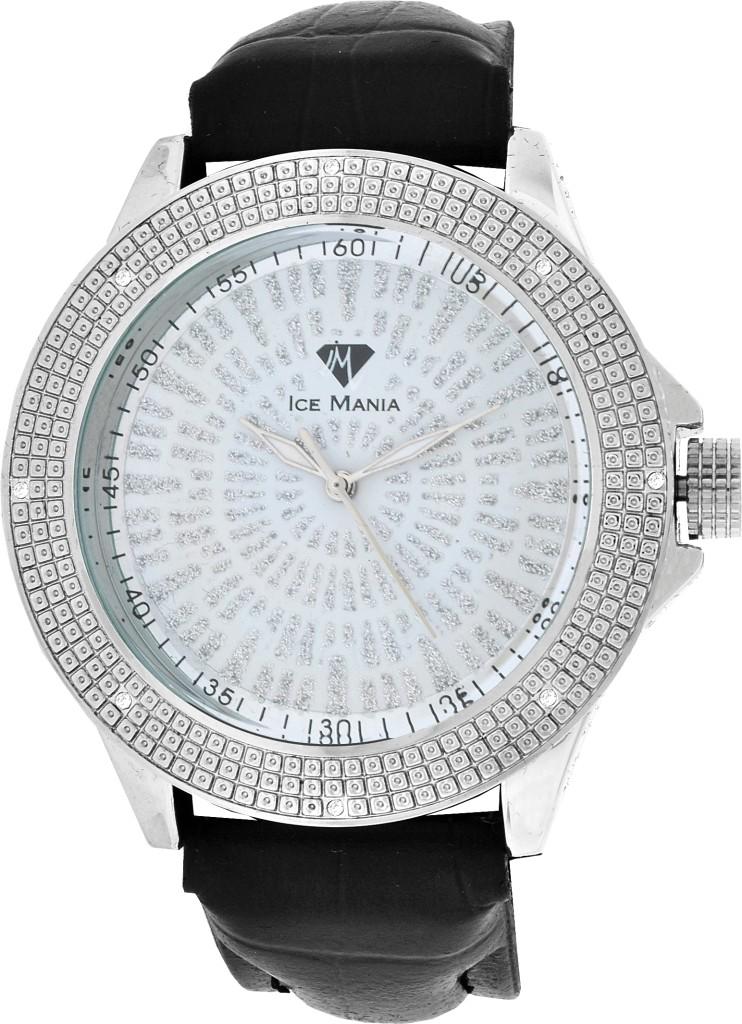 Men-039-s-Joe-Rodeo-Jojino-Ice-Mania-8-Diamonds-Watch-White-Tone-10-Styles-Available