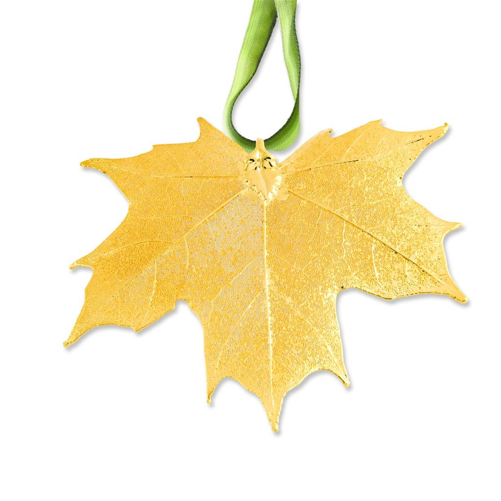Leaves K Gold Plated Dipped Sugar Maple Decorative Leaf Ornament