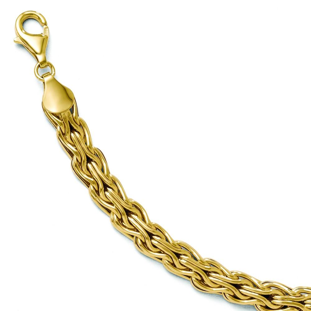 """Leslies 14K Yellow Gold 7mm Fancy Link 7.5"""" Bracelet w ..."""