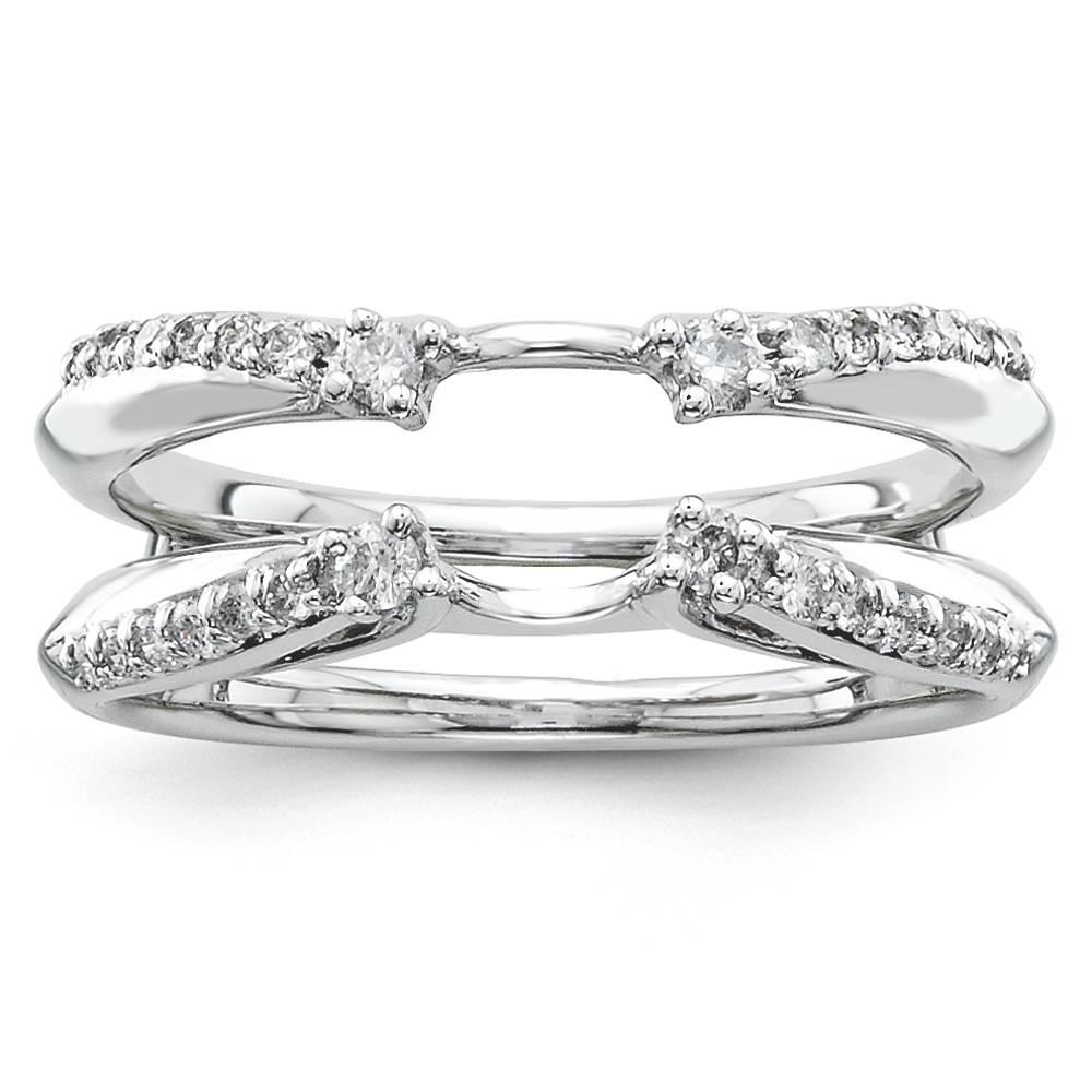 ring guard 14k white gold 0 252 ct size 7 ebay