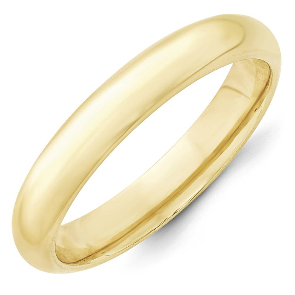 comfort fit wedding band ring 10k yellow gold 4mm size 13
