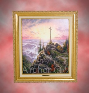 AUTHENTIC-Thomas-Kinkade-SUNRISE-16x20-Classic-Canvas