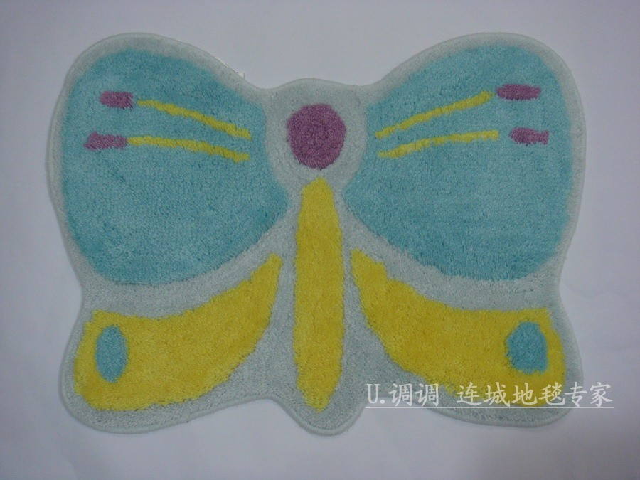 lovely blue butterfly bath mats rugs l2204 ebay
