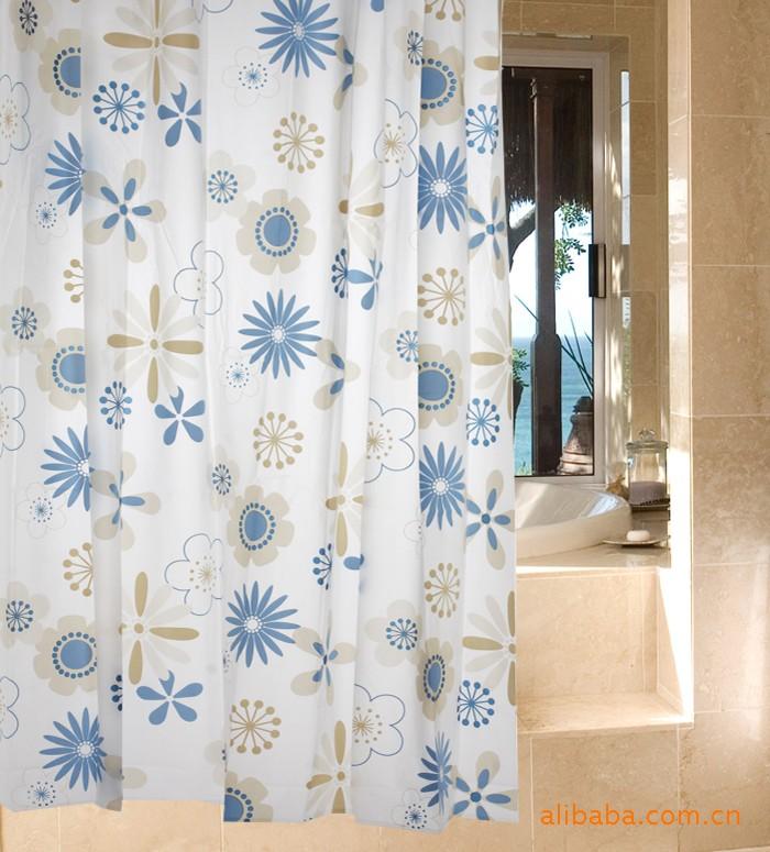 Blue Flowers Eva Bathroom Shower Curtain Wl1803 Ebay