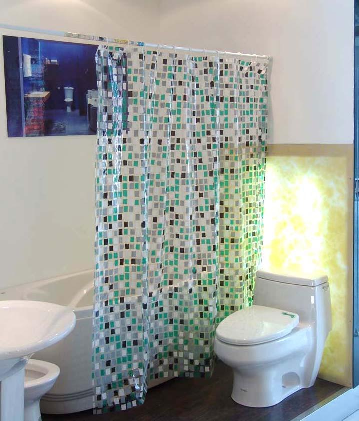 Black Transparent Mosaic Pvc Shower Curtain Y The Shower Curtain