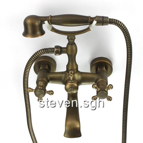 Clawfoot Bathtub Faucet With Handheld Shower Mixer Tap EBay