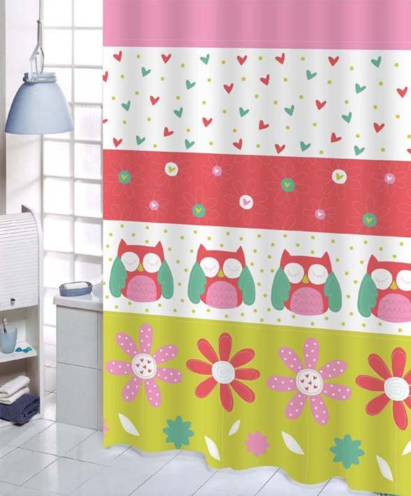 Lovely Cartoon Owls Fabric Shower Curtain Y2710 Ebay
