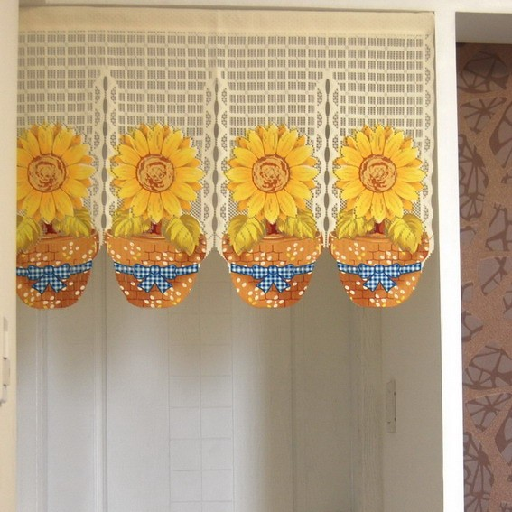 Sunflower Printting Door Curtain D2926 Ebay