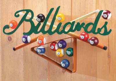billiards game room wall art decoration colorful pool rack