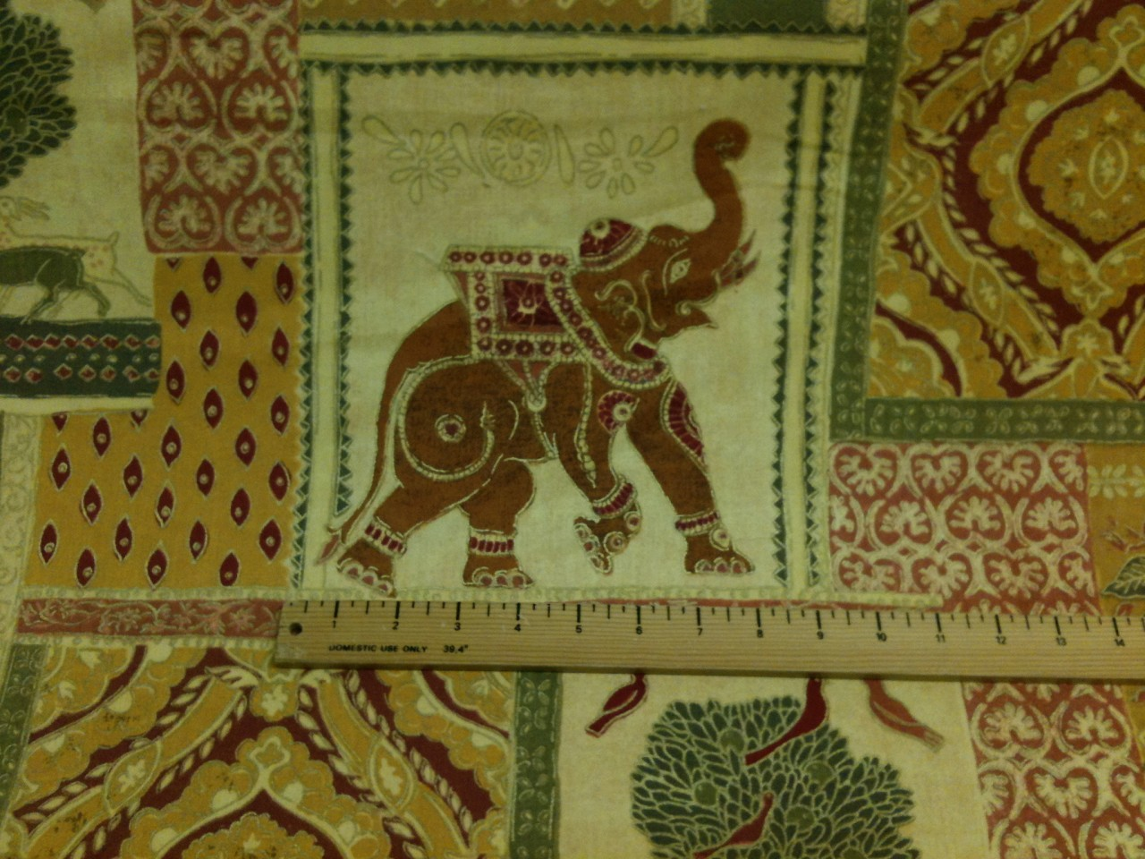 elephant print indian style curtain fabric material fabric sold by the ...