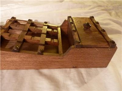 Vintage wood himark letter holder wall mount drawer rack made in japan ebay - Wooden letter holder wall mount ...