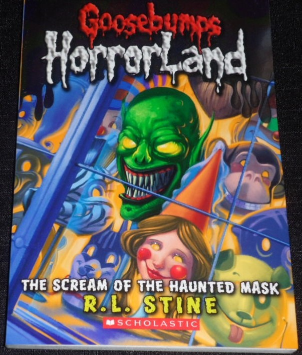 goosebumps horrorland the scream of the haunted mask book report Carly beth is drawn by the voice of the mask she heads to the basement where she has it locked away in a metal box she resists it for that night the next day after school she tells sabrina what's going on and she tells carly beth that she needs to get rid of the mask.