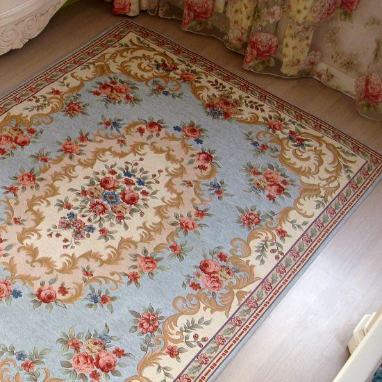 French Country Victorian Traditional Classic Floral Blue
